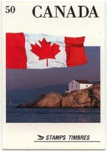 Canada - #BK111A Flag Booklet Scarce Perf. 12.5x13 Mint Cat. $50.00