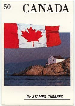 Canada - #BK111A Flag Booklet Scarce Perf. 12.5x13 Mint Cat. $60.00