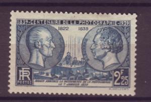 J15205 JLstamps 1939  france set of 1 mh #374 photography