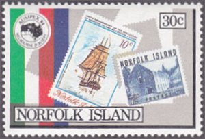 Norfolk Island # 344 mnh ~ 30¢ AUSIPEX '84 – Stamps