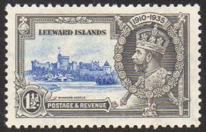 Leeward Islands 1935 1½d  ultramarine and grey (Silver Jubilee) MH