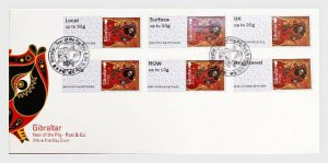 H01 Gibraltar 2019 Post & Go - Lunar New Year - Year of the Pig  FDC