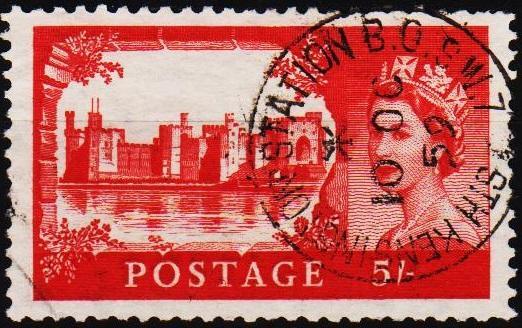 Great Britain.1959 5s S.G.596 Fine Used