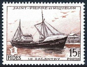 St Pierre & Miquelon 350, MNH. Fish Freezer Le Galantry, 1956