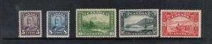 Canada #153 - #157 Mint Fine - Very Fine Lightly Hinged