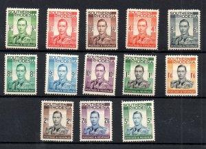Southern Rhodesia KGVI 1937 mint LHM set SG40-52 WS18720