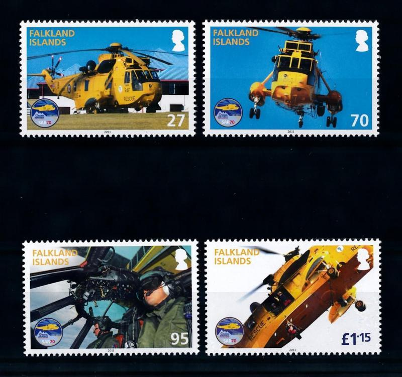 [71809] Falkland Islands 2011 Royal Air Force Helicopter  MNH
