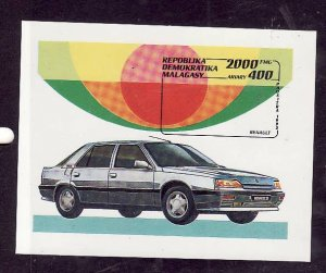 Madagascar Malagasy-Sc#1113-unused NH sheet-Cars-Automobiles-Renault-1993-