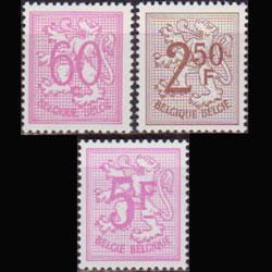BELGIUM 1951 - Scott# 415-26 Lion Dull Gum 60c-5f NH