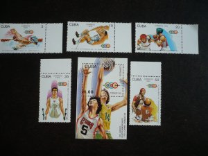 Stamps - Cuba - Scott# 3533-3538 - MNH Set of 5 stamps and 1 Souvenir Sheet