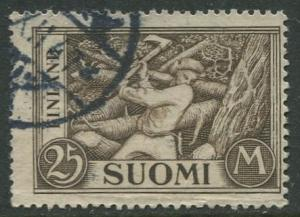 Finland - Scott 179 - Woodchopper -1930- Used - Single 25m Stamp