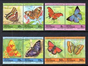 Tuvalu Vaitupu 39-42 Butterflies MNH VF