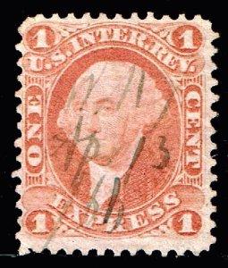 US STAMP BOB #R1C – 1862-71 1c red, express,