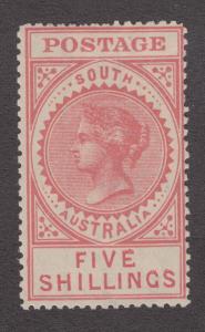 South Australia Sc 142a MLH. 1910 5sh pale rose Queen Victoria