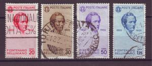 J21489 Jlstamps 1935 italy part of used #349-52 bellini