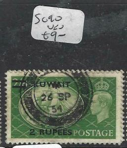 KUWAIT (P1804B)  ON GB KGVI  2R/2/6  SG90  SON  CDS  VFU