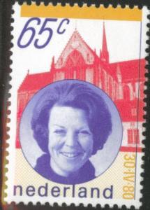 Netherlands Scott 608 MNH** 1981 65c Queen Beatrix stamp