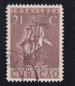 Netherlands Antilles  Curacao  #120  used  1934  anniv founding colony 21c