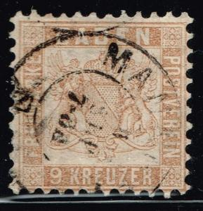 Baden SC# 23a, Used.        Lot 02222015