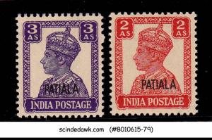 PATIALA STATE - 1944 KGVI SG#109-110 OVERPRINTED - 2V - MINT NH