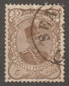 Persia Stamp, Scott# 149, used hinged, postmark, 3 Krans, lilac brown  #G-19