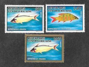 Central African Republic 979-981 Flora Fauna Fish Mint NH MNH!