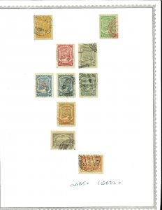 Colombia M & U (mostly) 1920's-1940's Airmails (mostly) Hinged on Minkus Pages