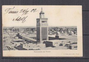 TUNISIA, 1902 ppc. Tunis, Mosque, 5c. Tunis to Austria.