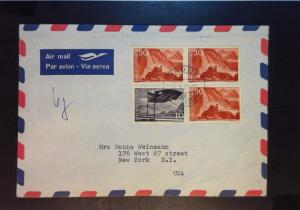 Liechtenstein 1960 Airmail Cover to New York - Z1198