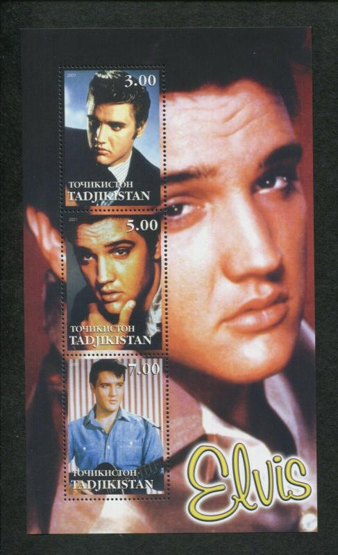 Tajikistan Commemorative Souvenir Stamp Sheet - Elvis Presley
