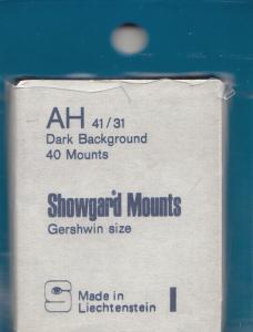 SHOWGARD BLACK MOUNTS AH 41/31 (40) RETAIL PRICE $3.95