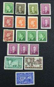 MOMEN: CANADA SG # 1949-50 MINT OG H £ LOT #7117