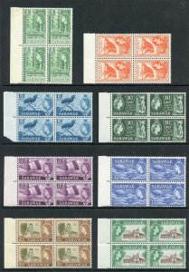 Burma SG51/63 1946 Set of 15 in U/M Blocks of Four
