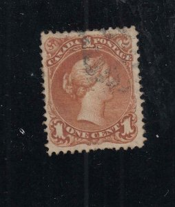 CANADA # 22 VF-1ct BROWN RED LARGE QUEEN VERY LIGHT USED CAT VALUE $200