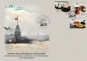 TURKEY / 2020 - (FDC) EUROMED 2020 Gastronomy (Cofee, Desert), MNH