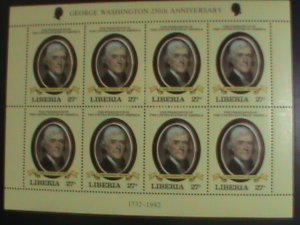 LIBERIA: 1981-SC#907 AMERICAN PRESIDENT -THOMAS JEFFERSON ,MINT-FULL SHEET