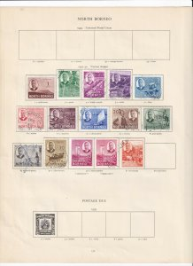 NORTH BORNEO 1950-52 SET COMPLETE TO $2  MINT/USED