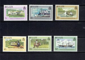 BELIZE - 1979 CENTENARY OF THE UPU - SCOTT 410 TO 415 - MNH