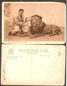 India Patiala State 1924 W.M.Hutton The Naturalist at Work Painting Lion View...