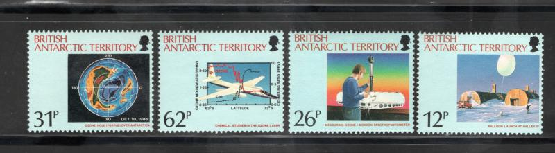 BRITISH ANTARCTIC TERRITORY Sc# 176 - 179  MNH FVF Set-4 Antarctic Ozone Hole