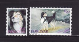 Faroe Islands 266-267 Set MNH Animals, Sheep Dogs