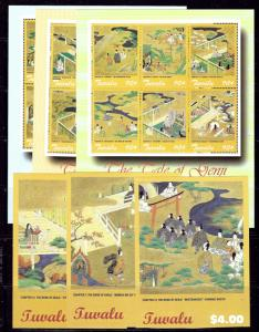 Tuvalu 876-81 MNH 2002 Tale of Genji three sheets of 6 and 3 S/S