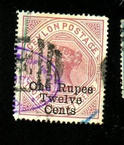 Ceylon #115 Used F-VF Cat $50
