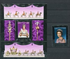Togo 1977 Sc 947a b MNH Sheet+Stamp  Quenn Elizabeth II Silver Jubilee Silver...