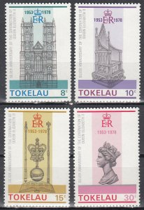 Takelau, Sc 61-64, MNH, 1978, Anniv. of Coronation