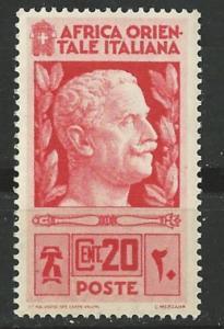 Italian East Africa # 6 Victor Emmanuel III  (1) Unused VLH