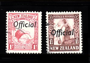 NEW ZEALAND SC# O58, O59 OFFICIAL STAMPS - USED - SALE TO A USA ADDRESS ONLY