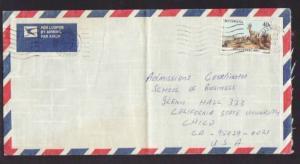 Botswana to Chico CA 1987 Airmail  # 10 Cover
