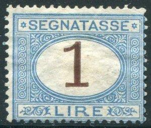 HERRICKSTAMP ITALY Sc.# J13 1870-1925 Fine NG, Lt. Blue, Brown Signed Diena
