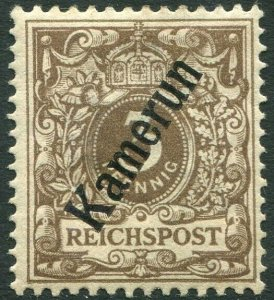 CAMEROUN-1897-98 3pf Grey-Brown Sg K1 MOUNTED MINT V36320